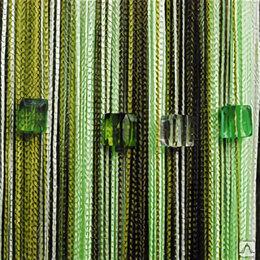 Шторы - Нитяные шторы Portgallery мультиколор с кубиками тяжелые , 0