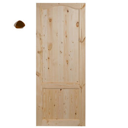 Межкомнатные двери - Дверное полотно банное (массив сосны), 0