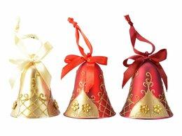 Ёлочные украшения - Набор колокольчиков LOVELY BELL, стекло, 6.5х9…, 0