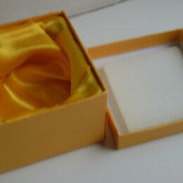 Рукоделие, поделки и сопутствующие товары - Коробочка подарочная желтая. Б/у, состояние хорошее, размер 7,5*7,5*6см., 0
