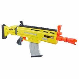 Игрушечное оружие и бластеры - Игрушка HASBRO NERF бластер НЁРФ Фортнайт Скар E6158, 0