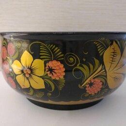 Декоративная посуда - плошка тарелка хохлома, 0