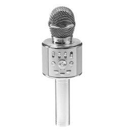 Микрофоны - Караоке микрофон Remax К05 Серебряный, 0