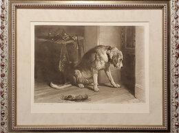 Гравюры, литографии, карты - 1875 год. Верный пёс в тревожном ожидании…, 0