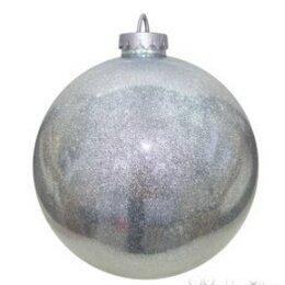 Новогодний декор и аксессуары - Шар декоративный, серебряный, 0
