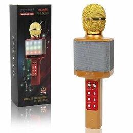 Микрофоны - Светящийся караоке-микрофон WS 1828 Золотой, 0