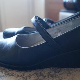 Балетки, туфли - Туфли школьные чёрные на девочку 35 кожа натуральн, 0