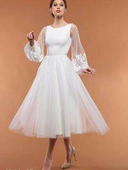 Платья - Короткое свадебное платье на роспись в ЗАГС 16-07, 0
