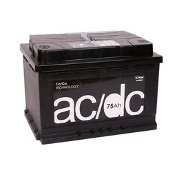 Аккумуляторы и комплектующие - Аккумулятор  AC/DC 6ст-75 75Ач 610А Прямая полярность, 0