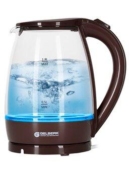 Электрочайники и термопоты - Чайник электрический Gelberk GL-470 шоколад 1,8л с, 0
