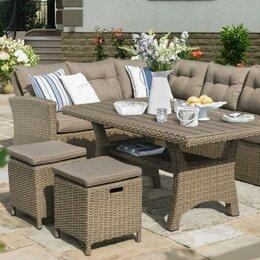 Комплекты садовой мебели - Комплект плетеной мебели AFM-307B Beige, 0