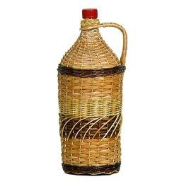 Этикетки, бутылки и пробки - Бутыль-декор 2 л ВИНОГРАД в оплетке, 0