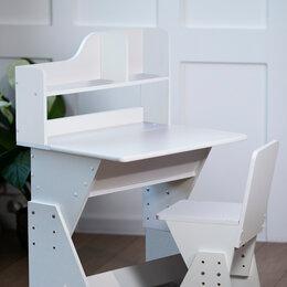 Комоды - Детский комплект парта и стульчик Я сам Классик Белый, 0