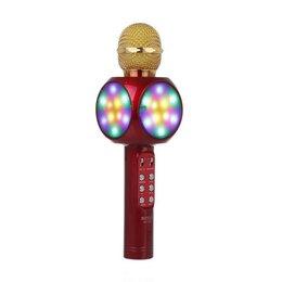 Микрофоны - Беспроводной караоке-микрофон WS-1816 (красный), 0