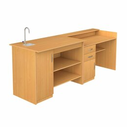 Мебель для учреждений - Стол демонстрационный для кабинета химии, 0