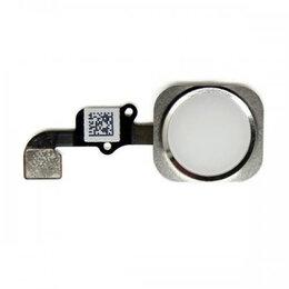 Шлейфы - Шлейф iPhone 6S / 6S Plus на кнопку HOME (белый), 0