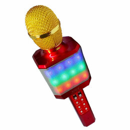 Микрофоны - Караоке - Микрофон Светящийся WS-1828 красный, 0
