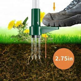 Тяпки и мотыги - Грабли от сорняков автомат извлекатель корней травы Fiskars 139940, 0
