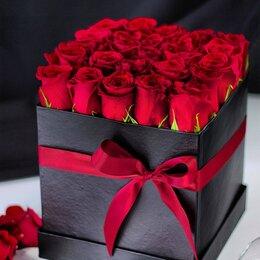 Цветы, букеты, композиции - Розы в коробке, 0