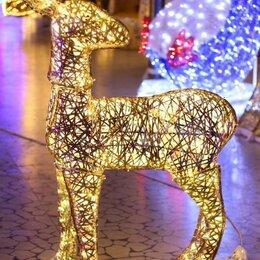 Новогодний декор и аксессуары - Световая фигура - Косуля - Плетеная, 0