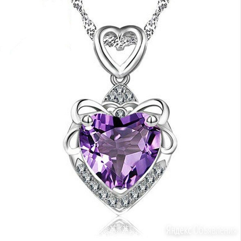 Серебряный циркон. Ожерелье Сердце Океана по цене 750₽ - Кулоны и подвески, фото 0