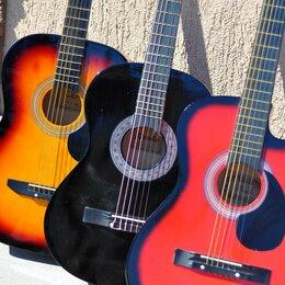 Акустические и классические гитары - Гитара новая, несколько цветов, 0
