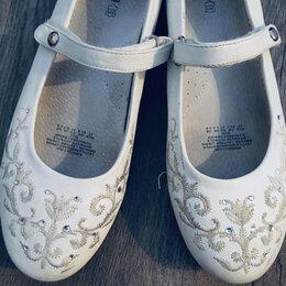 Балетки, туфли - Белые нарядные туфельки 23,6 см размер 35-36, 0