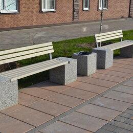 Железобетонные изделия - Скамейка бетонная парковая, 0