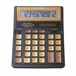 Калькуляторы - Калькулятор CITIZEN SDC-888TII Gold 12 разрядный бухгалтерский золотой 480255 15, 0