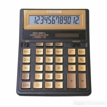 Калькулятор CITIZEN SDC-888TII Gold 12 разрядный бухгалтерский золотой 480255 15 по цене 1379₽ - Канцелярские принадлежности, фото 0