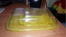 Ёмкости для хранения - Набор пластиковый - сырница + масленка, 0
