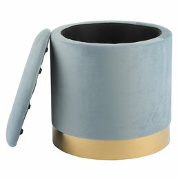 Пуфики - Пуфик с ящиком для хранения голубой 40 см ESF, 0