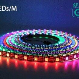 Светодиодные ленты - Адресная светодиодная RGB лента WS2812b 5v 60led 14,4W IP30, 0