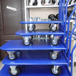Грузоподъемное оборудование - тележки платформенные металлические четырехколесные, 0