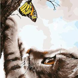 Раскраски и роспись - Картины по номерам Paintboy котенок и бабочка, 0