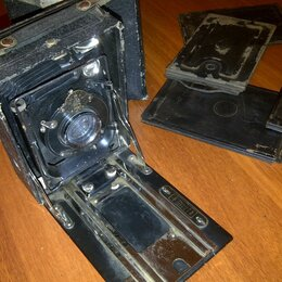 Фотоаппараты - Пластиночный фотоаппарат-гармошка Фотокор-1, 0
