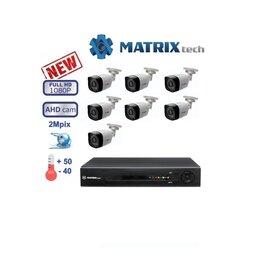 Камеры видеонаблюдения - Комплект видеонаблюдения на 7 камер Matrix Tech., 0