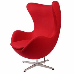 Кресла - Кресло-яйцо напольное красная шерсть Arne…, 0