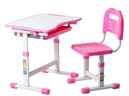 Компьютерные и письменные столы - Парта-трансформер детская со стулом розовая Sole…, 0