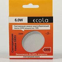 Лампочки -  лампа Gx53 Ecola 6W 4200K естественно -белый свет, 0