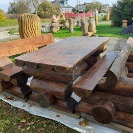 Комплекты садовой мебели - Мебель из бревна, садовая мебель, уличная мебель, 0