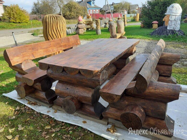 Мебель из бревна, садовая мебель, уличная мебель по цене 30000₽ - Комплекты садовой мебели, фото 0