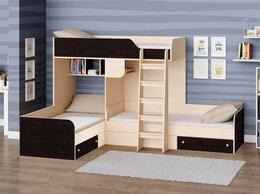 Кроватки - 6 цветов! Двухъярусная трехместная кровать Трио, 0