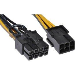 Прочие комплектующие - Переходник для питания видеокарт 6pin PCI-E - 8pin, 0