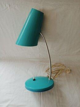 Настольные лампы и светильники - Уютная настольная лампа из СССР бирюзового цвета, 0