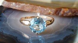 Кольца и перстни - Золотое кольцо с топазом, 0
