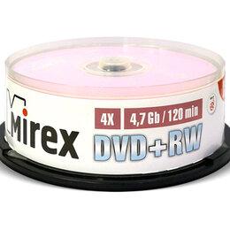Для производства и тиражирования CD и DVD дисков - Диск DVD+RW Mirex 4.7 Gb 4x Cake Box (25) (25/300), 0