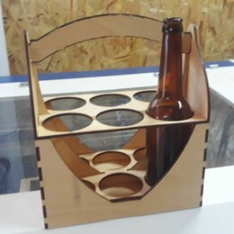 Корзины, коробки и контейнеры - Ящик-переноска для пива в бутылках, 0