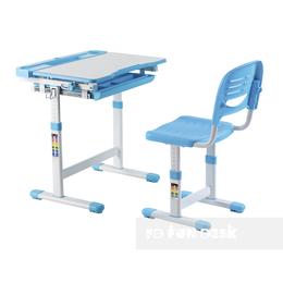 Компьютерные и письменные столы - Парта-трансформер детская со стулом голубая…, 0