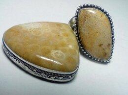 Комплекты - Комплект кольцо 19,5 и кулон натуральный коралл, 0